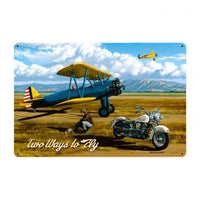 Vintage Signs - Two Ways to Fly Sign | STK016