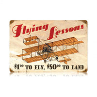 Vintage Signs - Flying Lessons Sign | V464