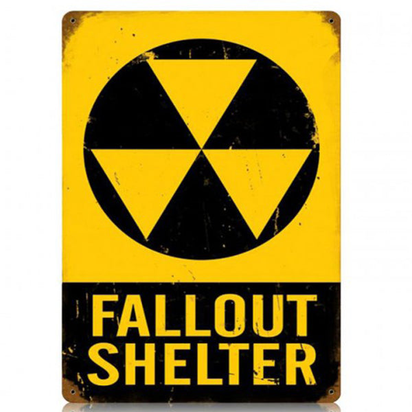 Vintage Signs - Fallout Shelter Sign | V501