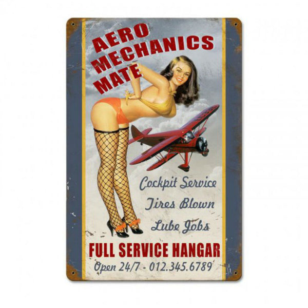 Vintage Signs - Aero Mech Mate Sign | V642