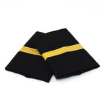 Black Standard Epaulets - Metallic Gold - 1 Stripe | WAPX700-1-GM