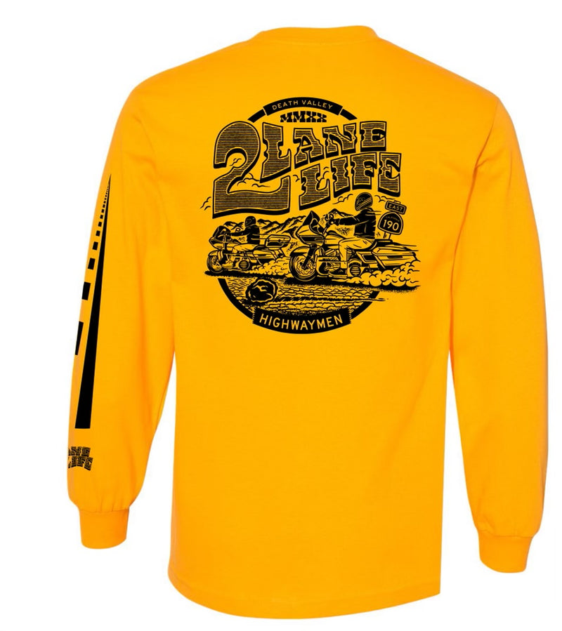 CA HWY 190 Shirt - Gold Long Sleeve