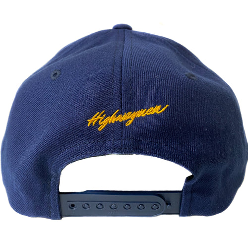 Highwaymen V3 Double Embroidered Snapback Hat - Navy Blue