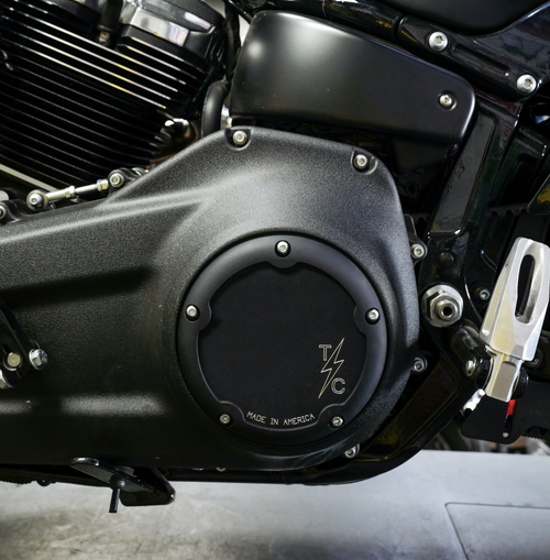 Dished 5 Hole Derby Cover - M8 Softail
