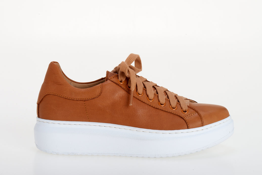 Chiara- Sneakers  in Pelle Cuoio
