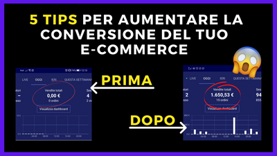 Come aumentare il tasso di CONVERSIONE DEL TUO E-COMMERCE (IN DROPSHIPPING)