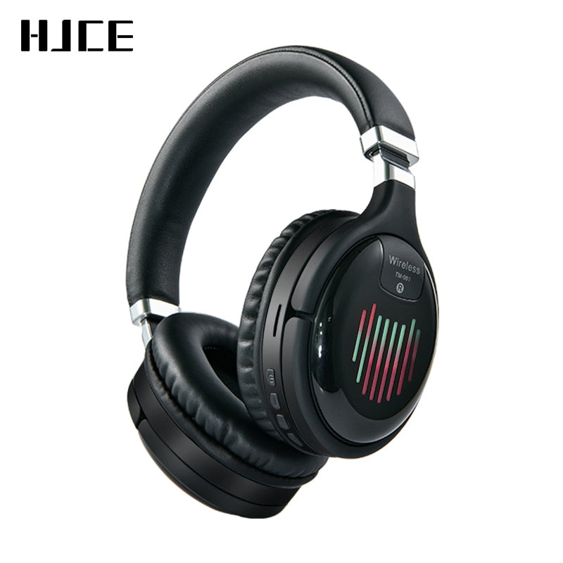 Wireless Headphones With Mic FM TF Card Noise Reduction Headphones