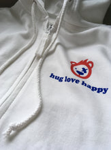 Load image into Gallery viewer, Women's hug love happy Zip Up Hoodie