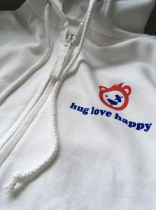 Women's hug love happy Zip Up Hoodie