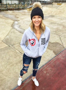 Women's Devil Logo Zip Up Hoodie