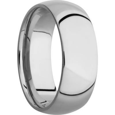 10k White Gold Men's Wedding Band