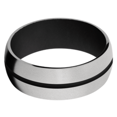 Titanium Men's Wedding Band with Black Cerakote