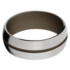 Titanium Men's Wedding Band with Burnt Bronze Cerakote
