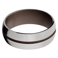 Titanium Men's Wedding Band with Chocolate Brown Cerakote