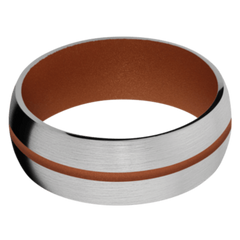 Titanium Men's Wedding Band with Copper Suede Cerakote