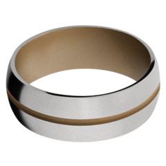 Titanium Men's Wedding Band with Coyote Tan Cerakote