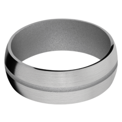 Titanium Men's Wedding Band with Crushed Silver Cerakote
