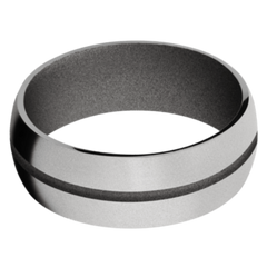 Titanium Men's Wedding Band with Gun Metal Grey Cerakote