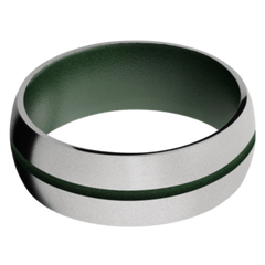 Titanium Men's Wedding Band with Highland Green Cerakote