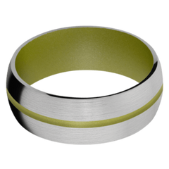 Titanium Men's Wedding Band with Mojito Cerakote