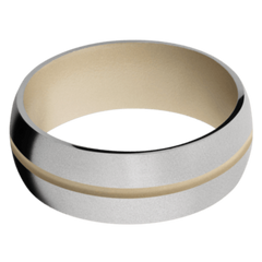 Titanium Men's Wedding Band with Sandy Beige Cerakote