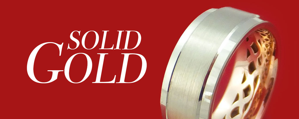 Solid Gold Men's Wedding Bands