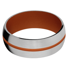 Titanium Men's Wedding Band with Tequila Sunrise Cerakote