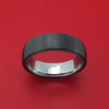 Tantalum and Black Titanium Band Custom Made Ring by Ammara Stone
