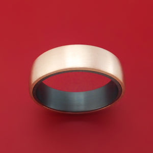 14K Rose Gold and Tantalum Ring by Ammara Stone