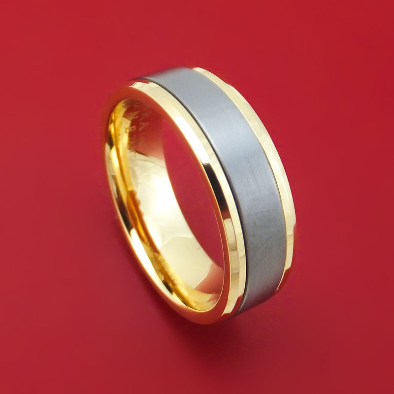 14K Yellow Gold and Tantalum Ring by Ammara Stone