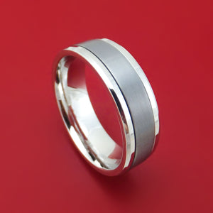 14K White Gold and Tantalum Ring by Ammara Stone