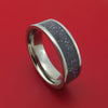 Titanium Ring with Dark Stardust Inlay Custom Made Band