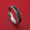 Titanium Ring with Black Stardust Inlay Custom Made Band