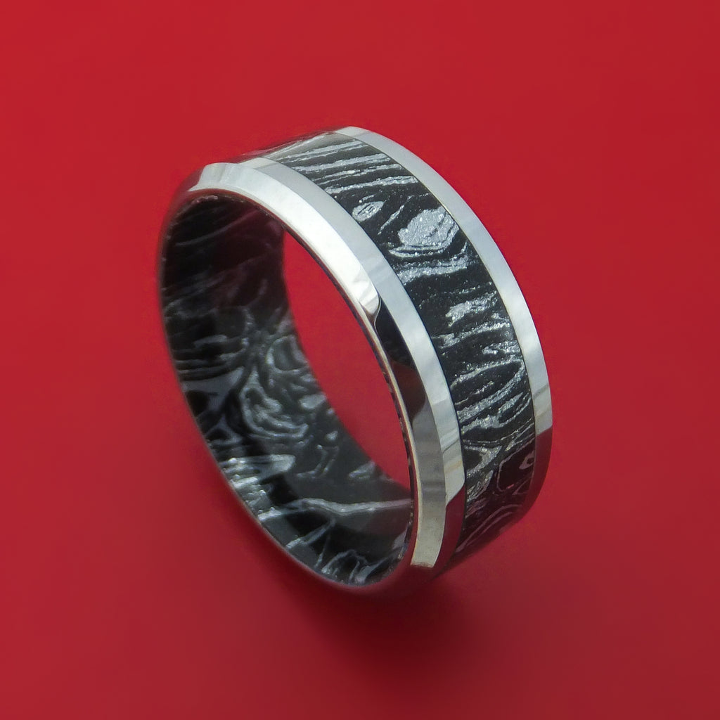 Titanium Ring With M3 Mokume Custom Made