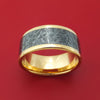 10k Yellow Gold Ring with Black and White M3 Mokume Custom Made