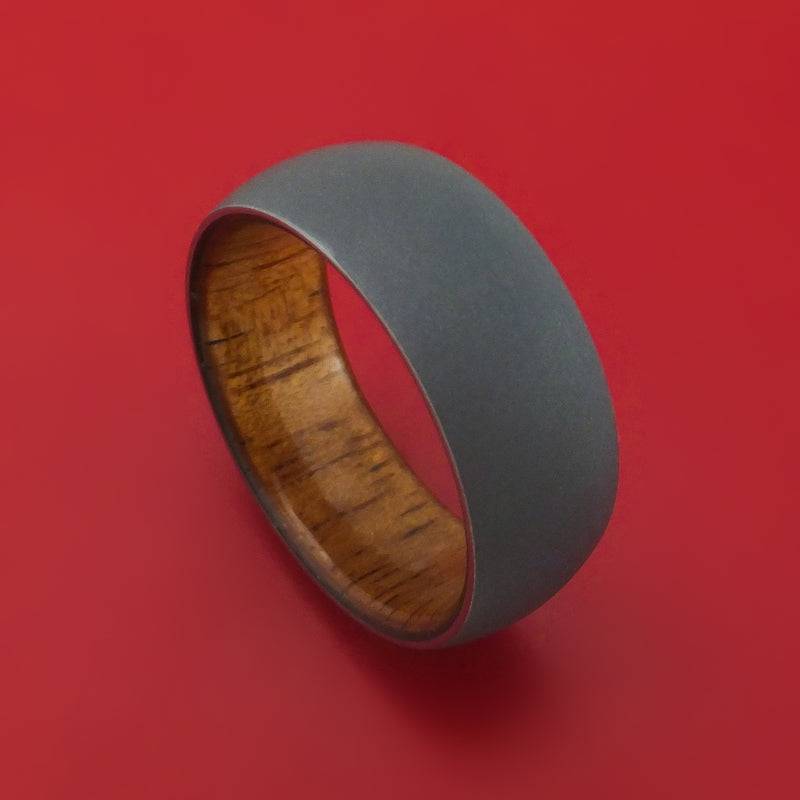 Tantalum and Hardwood Ring Custom Made Band