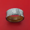 Hammered Tantalum Concave Ring with Wood Sleeve Custom Made