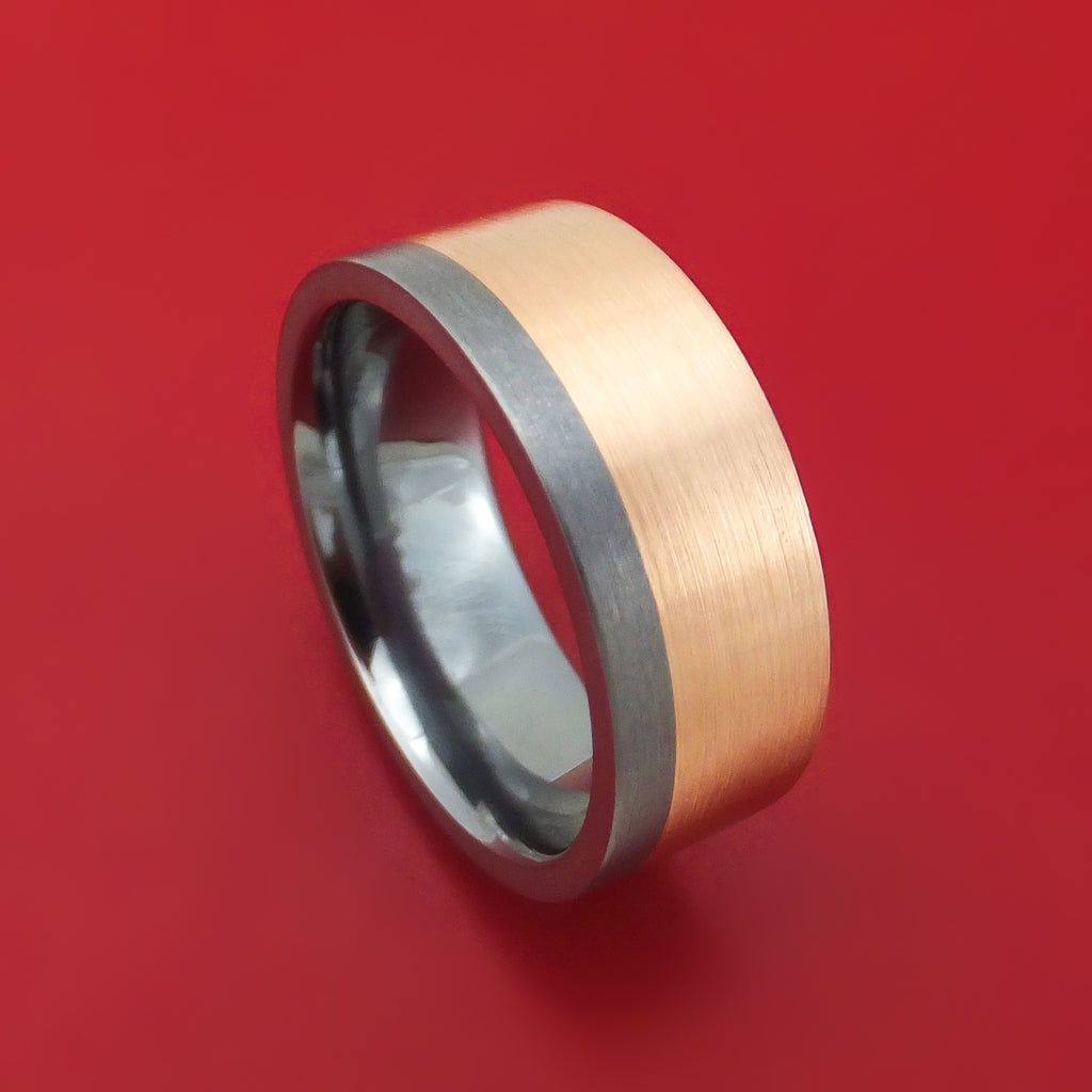 Tantalum and 14K Gold Ring Custom Made Band