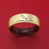 14K Gold and Lab Diamond Ring with Wood Sleeve
