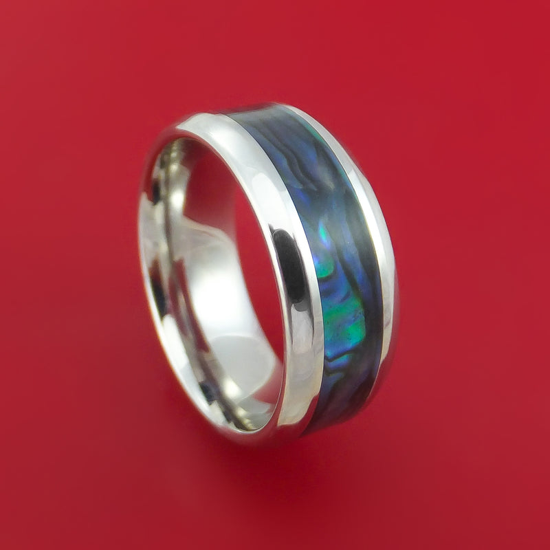 Cobalt Chrome and Abalone Ring Custom Made Band