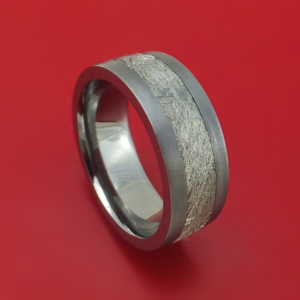 Tantalum and Meteorite Custom Made Ring