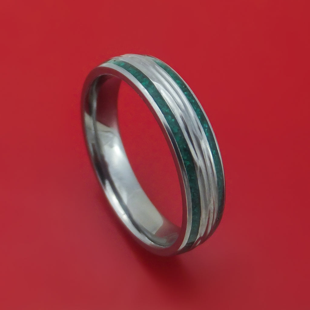 Tantalum and Stone Ring Custom Made Band