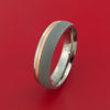 Copper Inlay and Titanium Ring Custom Made Band Any Finish and Sizing