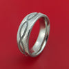 Damascus Steel Ring with Infinity Milled Celtic Design Inlay Custom Made Band