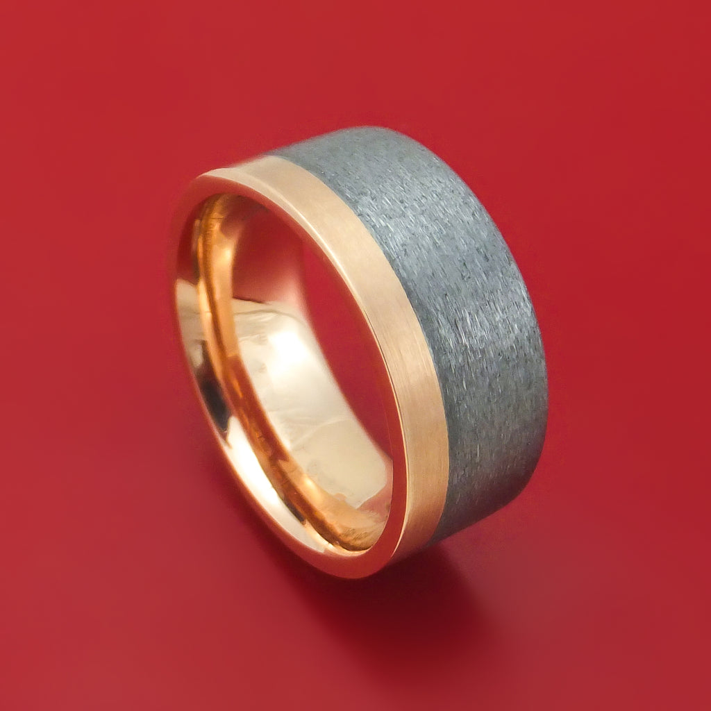 14K Gold and Tantalum Ring Custom Made Band
