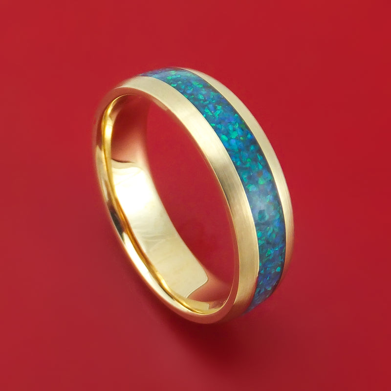 14K Gold and Opal Custom Made Band