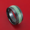 Black Zirconium and Opal Custom Made Band