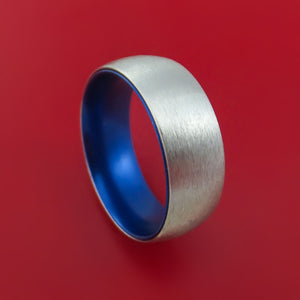 Cobalt Chrome with Blue Anodized Sleeve Custom Made Band Choose Your Color