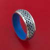 Cobalt Chrome Ring with Infinity Knot Milled Celtic Design and Cerakote Inlays and Interior Cerakote Sleeve Custom Made Band