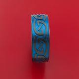 Black Zirconium Anodized Celtic Irish Knot Band Carved Any Size